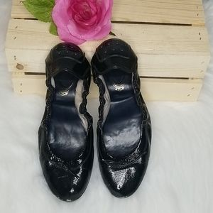 Tod's patent leather flats